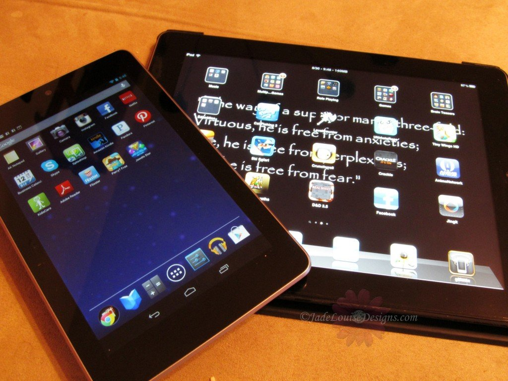 Google Nexus 7 Tablet vs iPad 2