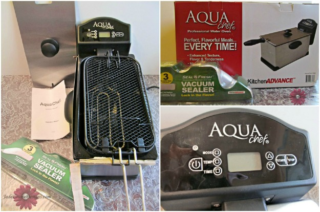 Water Oven cooking with the Aquachef sous vide; Healthy cooking made easy