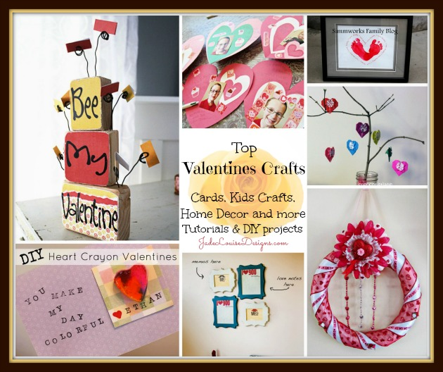 Diy Gift Idea Day Teacher Home Art Decor: Kalinda Conga: Top Valentines Crafts- Crafts For Kids