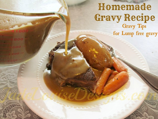Homemade gravy recipe gravy tips to make homemade lump for How to make beef gravy from drippings