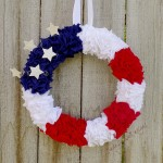 Wreath Tutorial | 4th of July DIY Patriotic Wreath #crafts for Independence Day