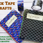 Duck Tape Crafts | Personalized Kids Duck Tape Notebook craft #DuckTapeAtWalmart