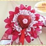 Flirty Flower Tutorial Valentines Day Crafts. Easy DIY  #valentinesday