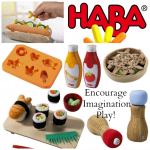 How to use HABA Kitchen toys to encourage imagination play + Giveaway