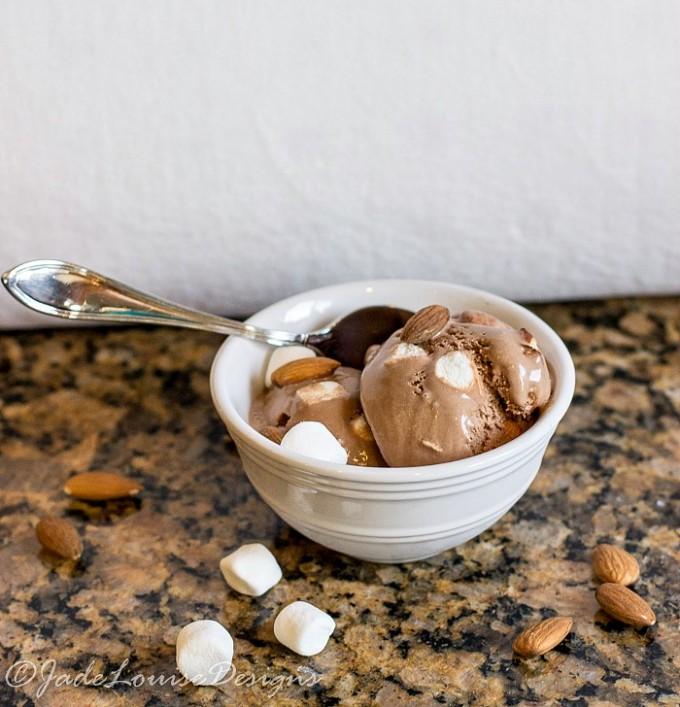 Rocky Road Homemade Ice Cream + win memory foam pillow