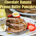 Chocolate Peanut Butter Pancakes Recipe a nutritious breakfast!
