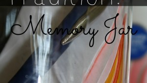 New Year's Tradition Memory jar