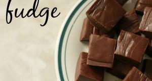 Creamy 5 minute fudge