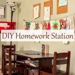 DIY Homework Station ideas, A centralized location for all School work