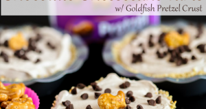 Fluffy No Bake Chocolate Cheesecake Tarts with Goldfish Pretzel Crust