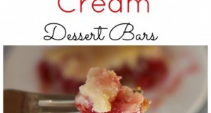 Delicious Cherries and Cream Dessert Bars
