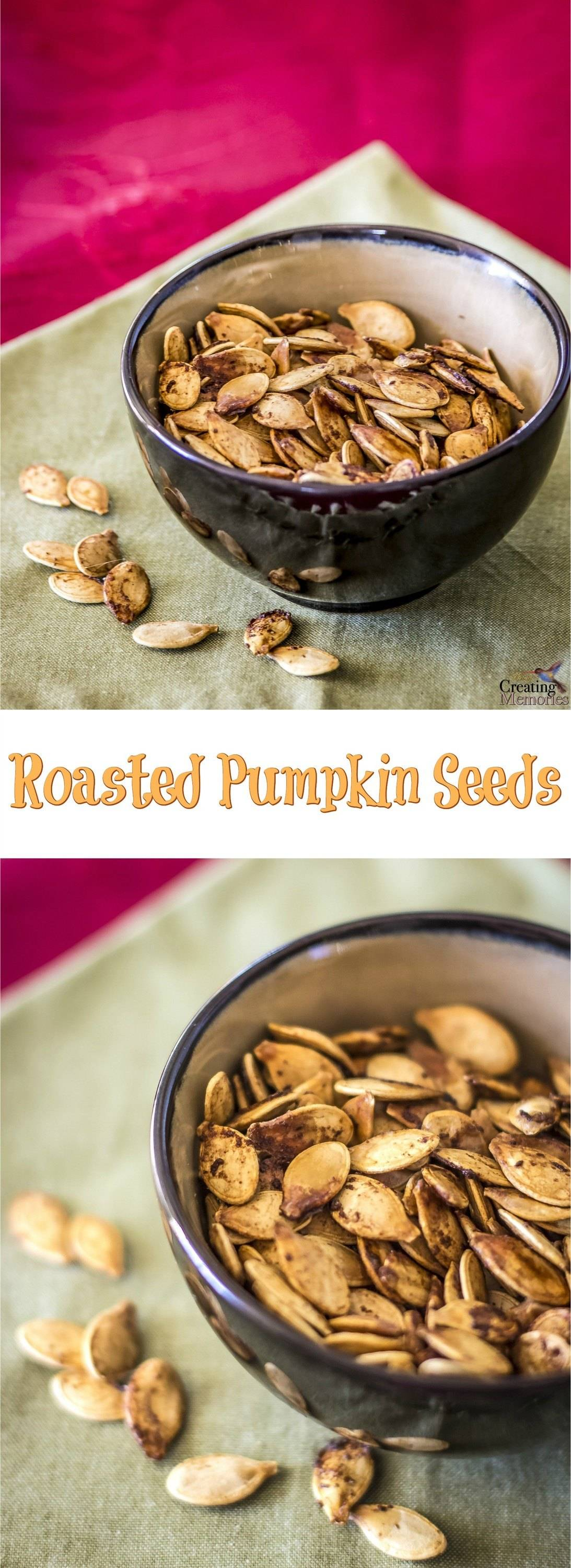 Don't waste the best part! Turn those pumpkin seeds into a delicious roasted snack with this simple Roasted Pumpkin Seeds recipe the entire family will love!