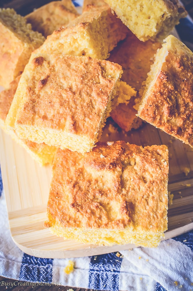 Sweet Southern Cornbread Recipe that melts in your mouth!