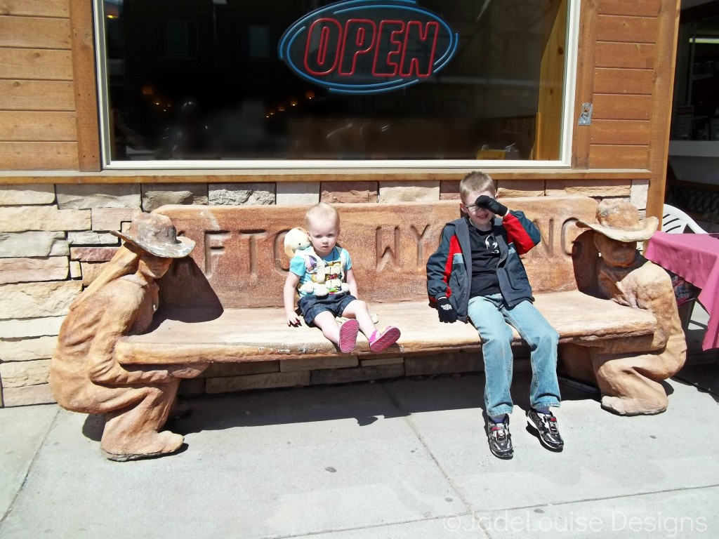 Street benches Star Valley Wyoming