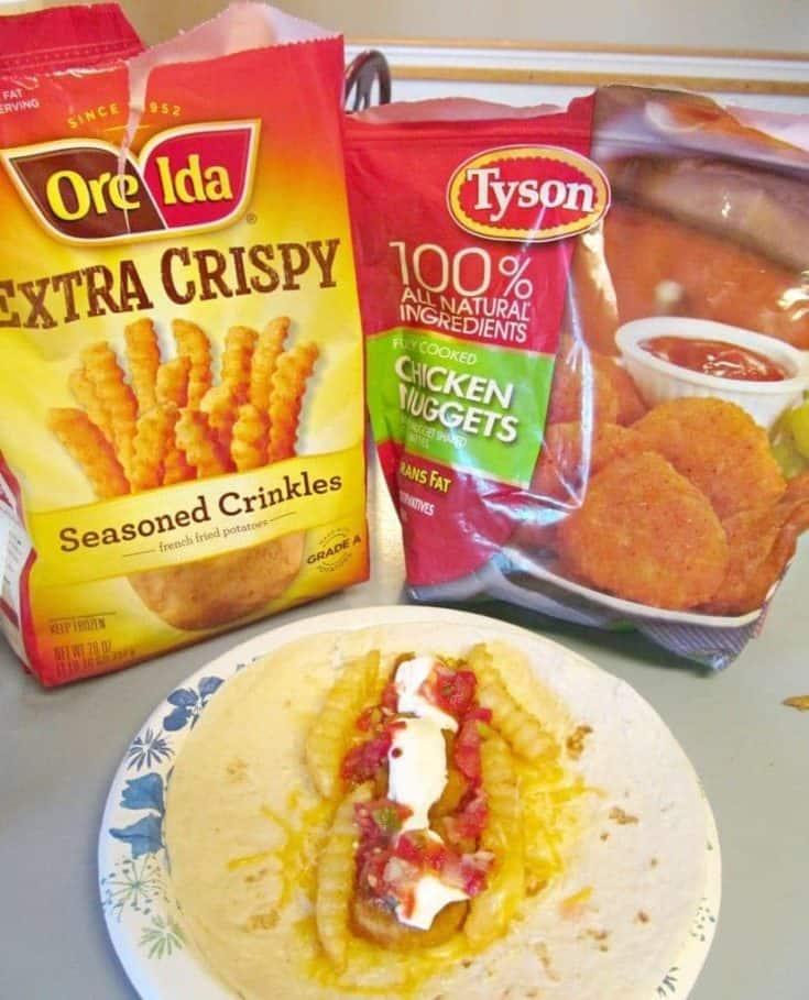 Family Night Chicken and Potato Burrito Recipe #DipDipHooray