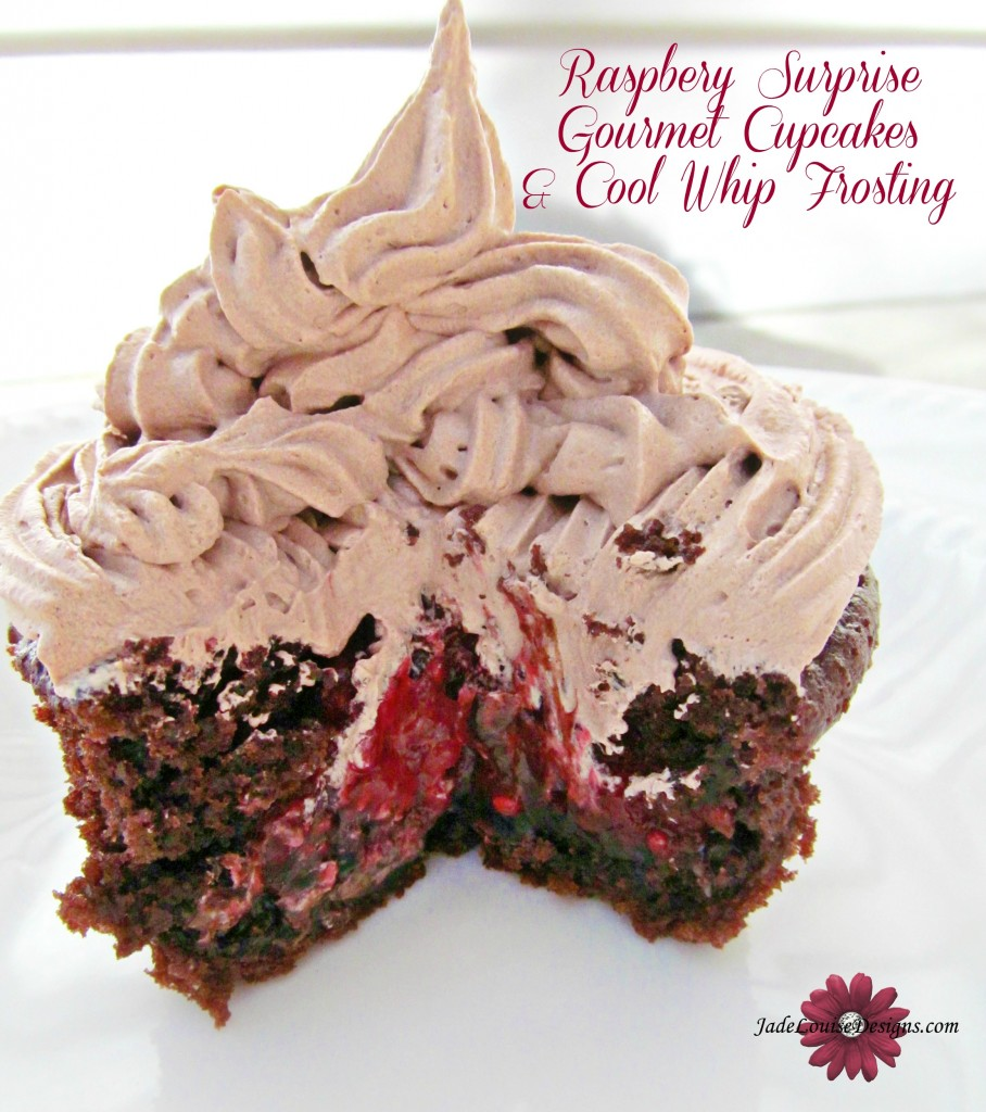 Raspberry Filled Gourmet Cupcakes Tutorial