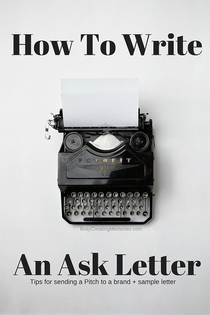 Write an Ask Letter, Sample Pitch Letter for Review
