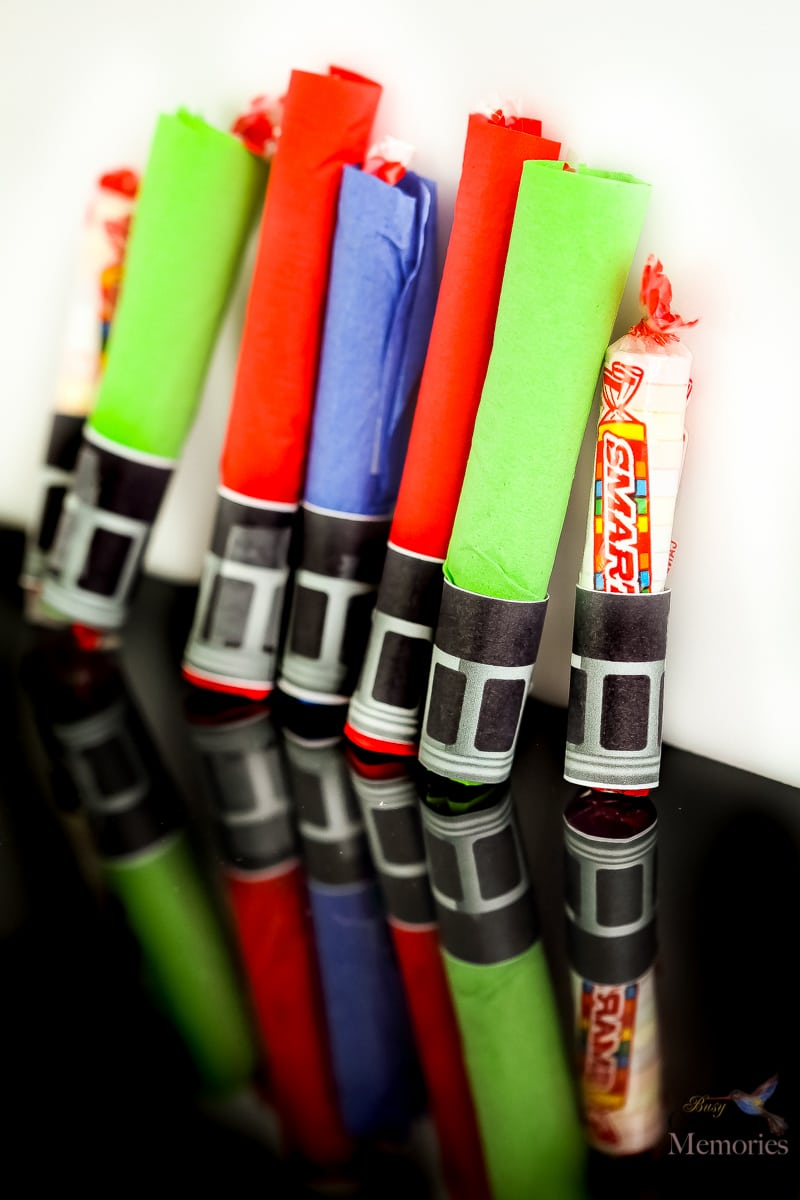 graphic about Lightsaber Printable identify Star Wars Smarties Lightsaber Craft Address Handout
