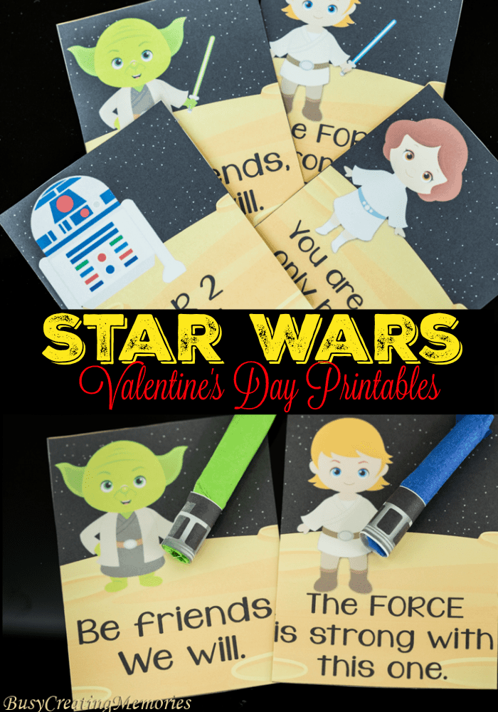 Valentine's Day Star Wars Printables