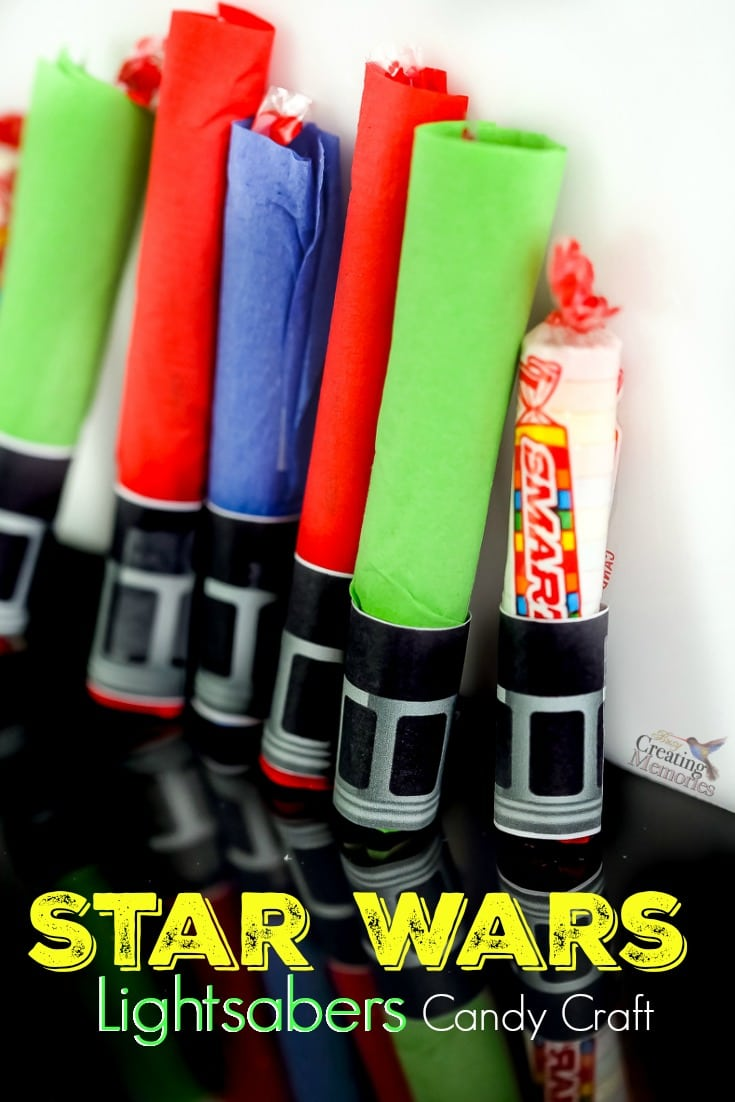 picture relating to Lightsaber Printable known as Star Wars Smarties Lightsaber Craft Handle Handout