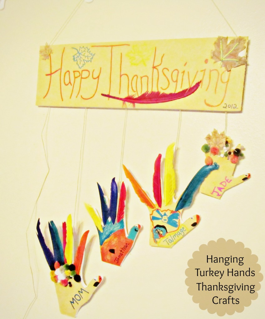 Thanksgiving Crafts: DIY Hanging Turkey Hands