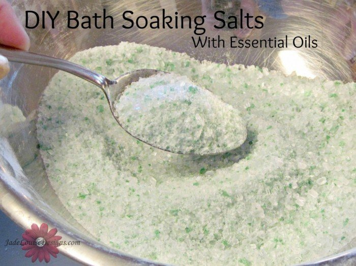 Bath Salts Recipe Homemade Bath Salt Soak With Essential