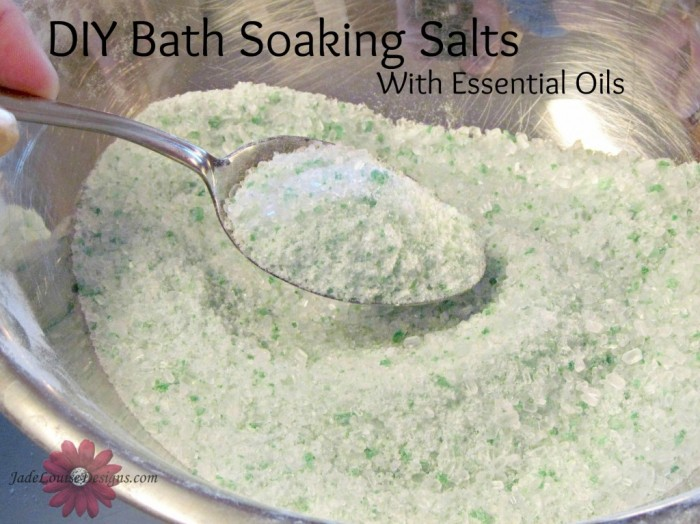 DIY Bath soaking salts with Essential Oils