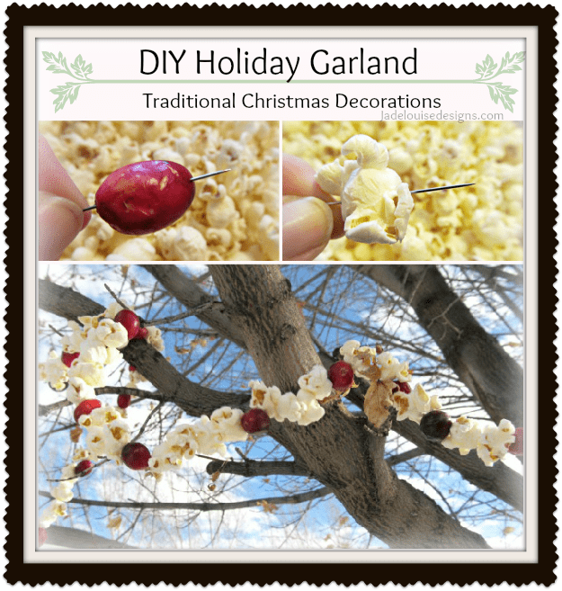 How To Make Christmas Decorations Youtube: DIY Holiday Garland; Traditional Christmas Decorations