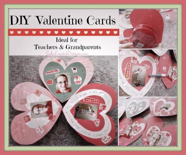 DIY Valentine Cards Kids Crafts for Teachers Grandparents – Teacher Valentines Cards