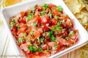 The Best Fresh Homemade Salsa with Spicy Alteration.