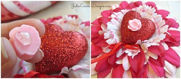 Valentine's Day Layered DIY Flower Tutorial for Crafts #valentinesday