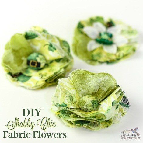 DIY Fabric Flowers Tutorial; How to make a Shabby Chic Fabric Posy flower