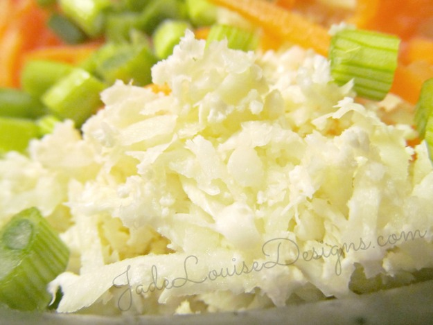 Gluten Free Rice Recipe; Faux Rice. Diabetic Friendly rice dish.