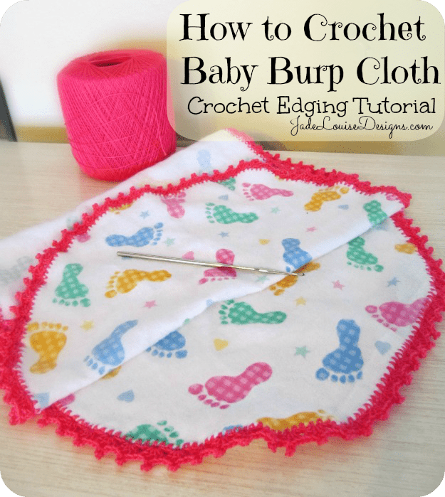 Crochet Edging Tutorial How To Crochet Baby Burp Cloth Crocheted