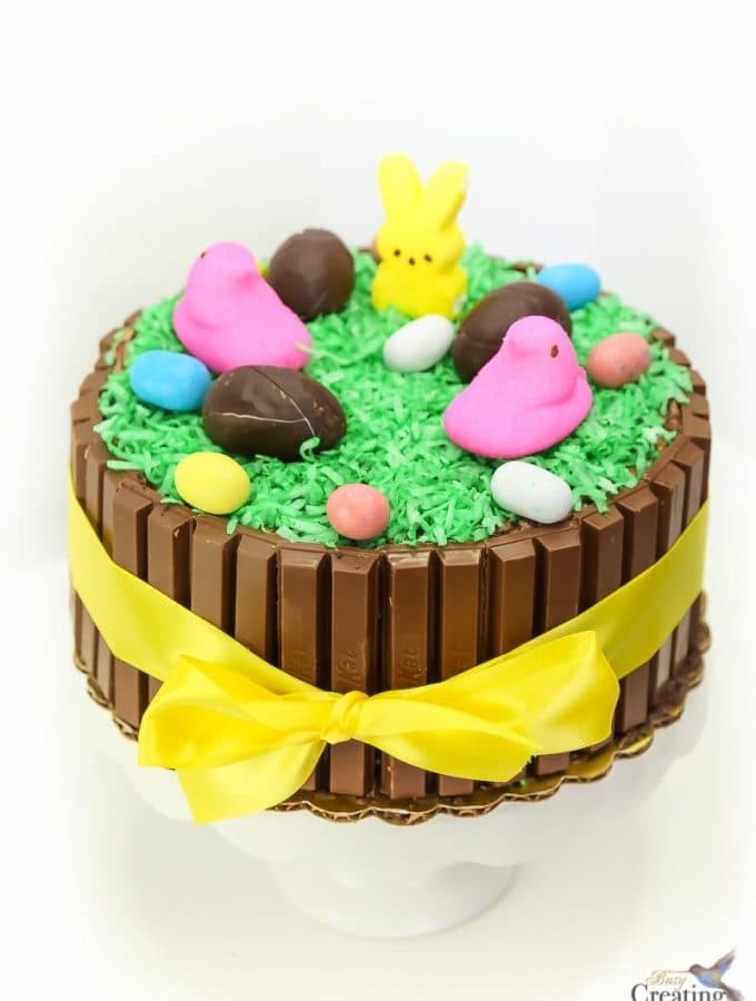 Easter Kit Kat Cake tutorial