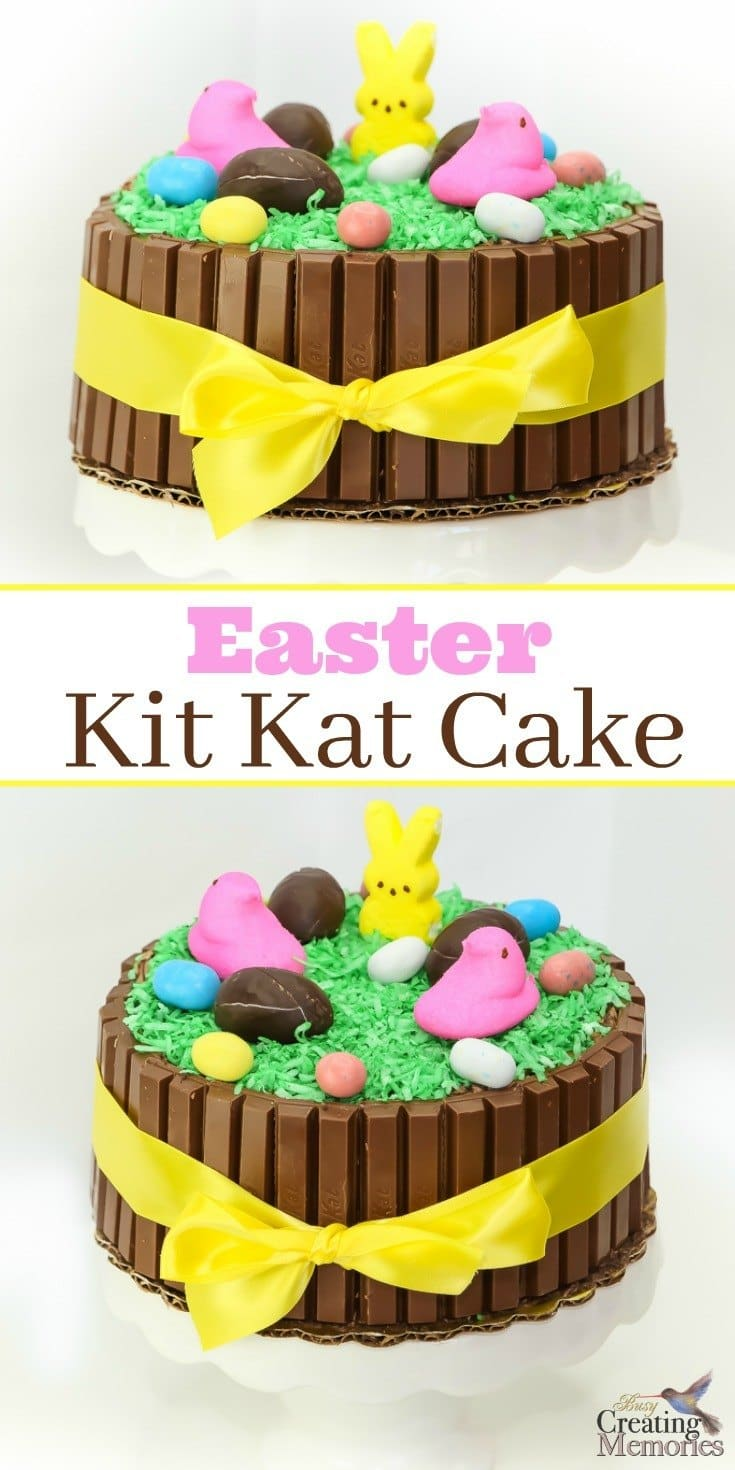 Discover how to turn an ordinary cake into something extraordinary! This fun and easy Easter Kit Kat Cake tutorial is the perfect centerpiece for your Easter Celebration! Kids love to be involved in the decorating and it's filled with your favorite chocolate Candy even including iconic PEEPs and Bunnies! It includes two ideas on how to create to fit your schedule and needs.