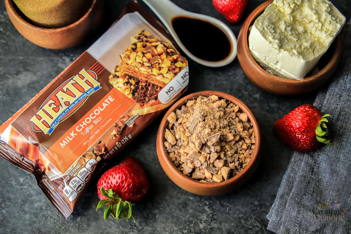 The Best Easy Chocolate Toffee Cream Cheese Fruit Dip Recipe ever!