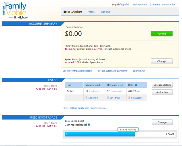 Walmart Family Mobile Plan Follow up  What I discovered