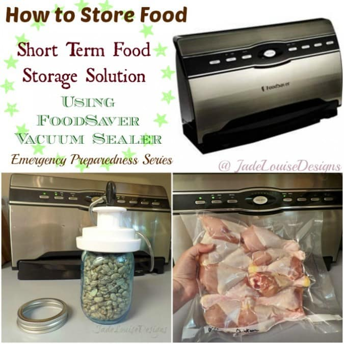 How to store Food with FoodSaver Vacuum Food Saver | Short Term Food Storage Solution