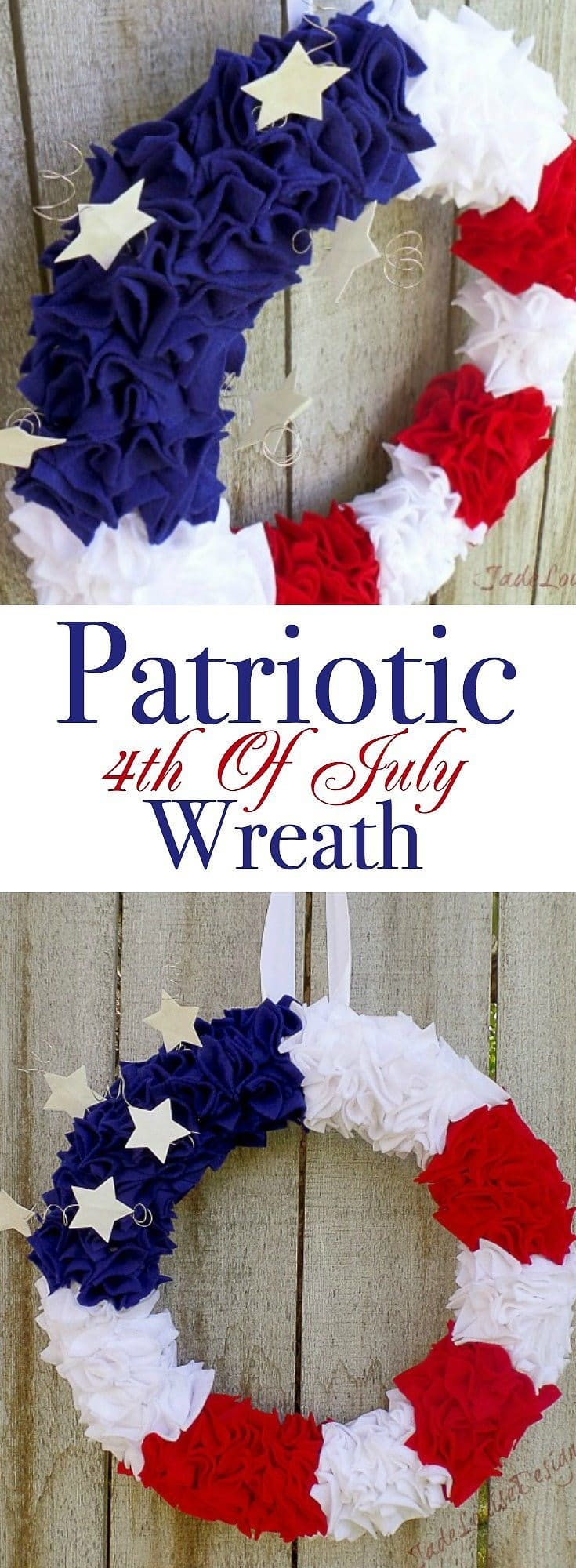Patriotic Wreath Tutorial | 4th of July DIY Patriotic Wreath crafts for Independence Day