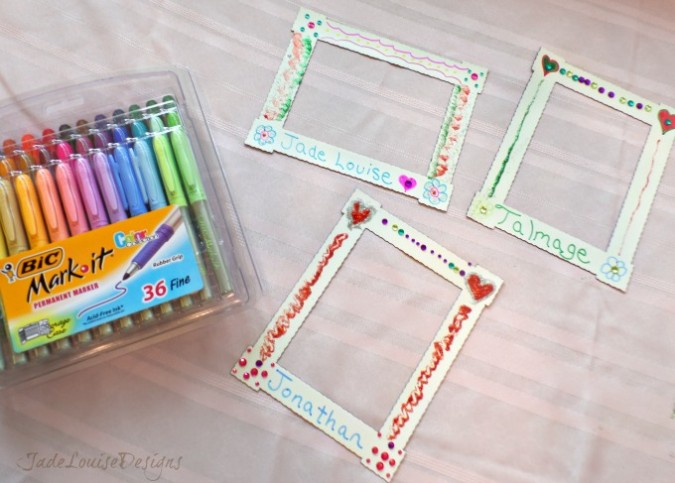 Kids Craft Diy Magnet Fridge Frames With Bic Mark It Marker