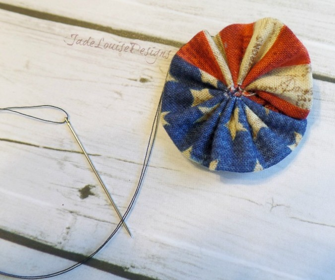 Boutique Bows, DIY Patriotic Patchwork Fabric Posy Headband and Hair bow tutorial
