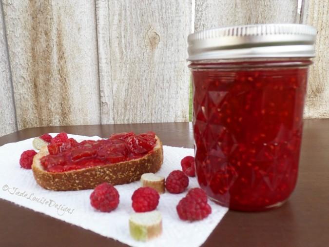 Raspberry Rhubarb Jam Recipe | Food Storage Series