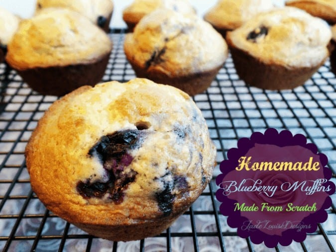Delicious Blueberry Muffins Recipe, Made from scratch.