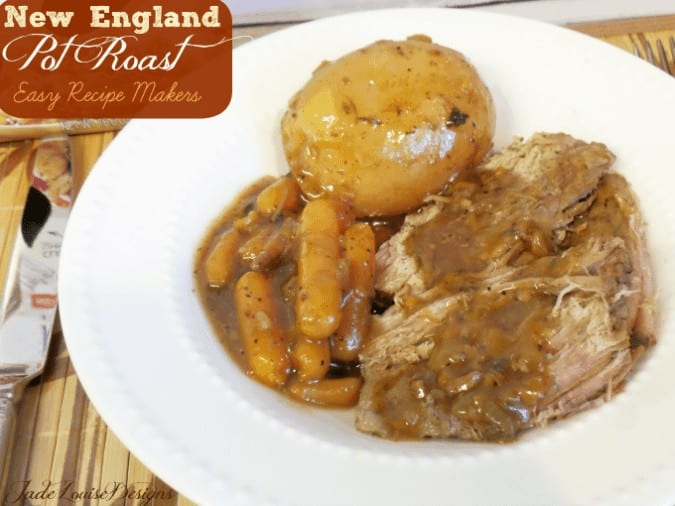 Easy New England Pot Roast Recipe Easy meal solutions for Busy moms. #kraftrecipemakers