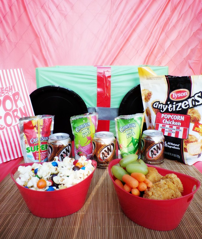 #ad DIY Drive In Theater Movie Party- Family Night Dinner and a Movie night #Tyson2Nite #cbias #shop