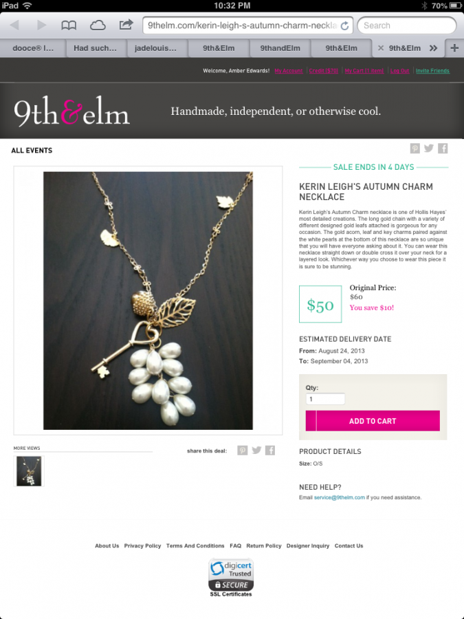 Hand Crafted Fashion and Handmade Jewelry at your finger Tips with 9thandElm.com #9thandElmIntro