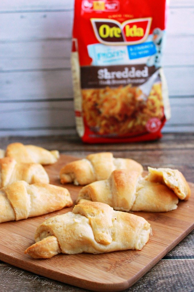 Creamy Chicken and Potato Stuffed Croissants Recipe with Ore Ida Hashbrowns. #OreIdaHashbrn, #shop, #cbias