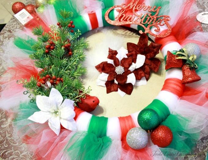 DIY Christmas Wreath Tutorial | Tutu Wreath Craft