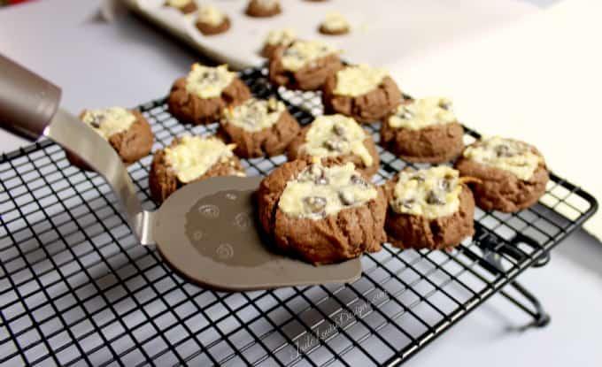 Chocolate Shortbread Cookies Recipe! Amazing Cheesecake cookies w/ Chocolate cookie base. #sweetcreations #goodcookcom #goodcookkitchenexprt